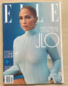 美国版 ELLE 2021年2月 女士时尚服饰潮流服装英文杂志