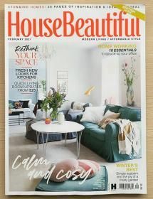 英国版 House Beautiful美丽家居2021年2月 英文室内建筑设计杂志