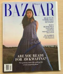 美国版 HARPER`S BAZAAR 芭莎2021年2月 英文时尚女士服装杂志