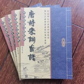 唐诗宋词画谱   全四册