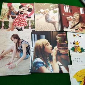 5张女明星卡片+12张明信片