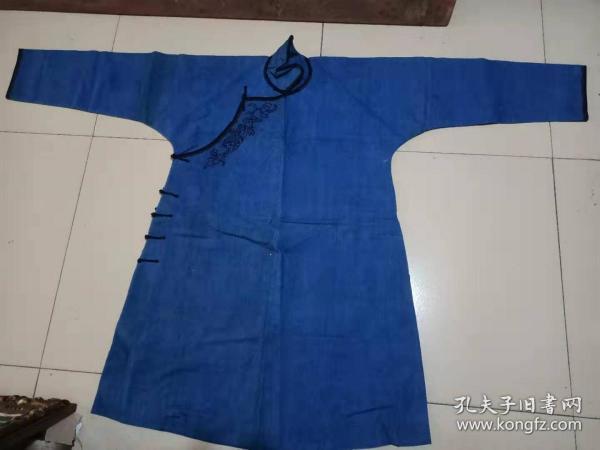 清末民国粗布 镶边绣花 大身衣服,尺寸155*102cm
