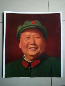 文革时期漂亮的毛主席像胶木摆件(长约61cm,宽约53.5cm,有两裂如图,按图发货)