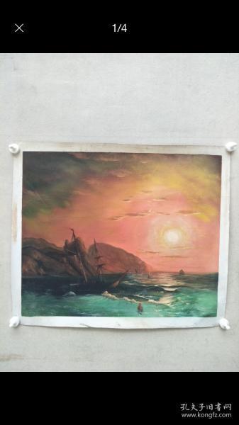 大幅、《》油画70+60纯手绘的