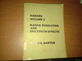 RADARS VOLUME4 RADAR RESOLUTION AND MULTIPATH EFFECTS(雷达 第4卷 雷达分辨力与多路径效应)英文版【馆藏品相如图内页干净完整】