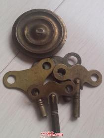民国老座钟钥匙及配件五个同售