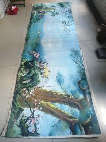 油画(布面,画面长约365cm,宽111cm)