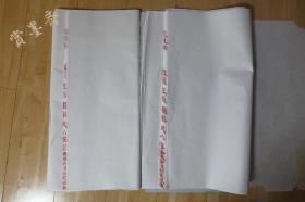 红星牌2008年老宣纸玉版棉料尺八对开单宣40夹宣36张53*59cm N534