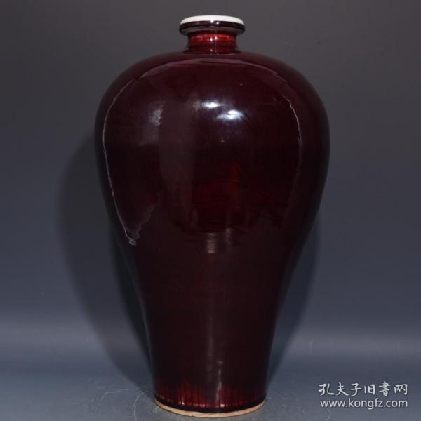 明祭红梅瓶