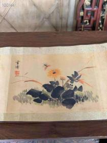 收到着名作家《王雪涛》手绘图一卷 ,保存完整,画工精细,色彩艳丽,成色如图
