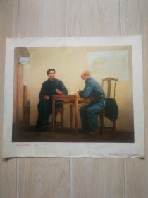 毛主席会见白求恩同志(油画)