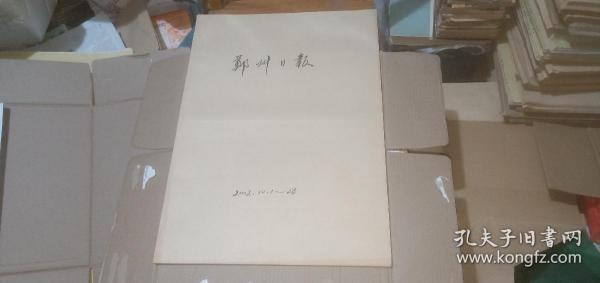 郑州日报2002年(10月1日-10月28日)(原报合订) (详情请看描述)