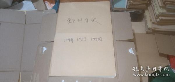 郑州日报2009年(6月1日-6月28日)(原报合订) (详情请看描述)
