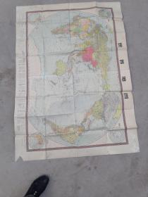 世界地图(挂图)【72年2版4次,1500mmX1060mm】