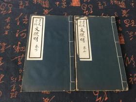 民国18年排印 附柯罗版插图3幅《文征明画史汇稿》全二册