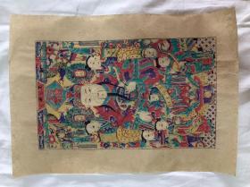 木板年画  杨家埠 财神(44×31)