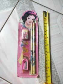 白雪公主牌铅笔橡皮格尺转笔刀一套