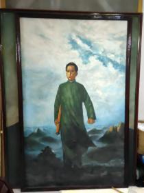 巨幅毛主席去安源油画
