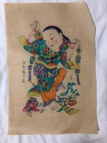 木版年画  (30×44)cm