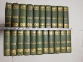 1901年  WORKS OF CHARLES DICKENS 21本全 AUTHENTIC EDITION 烫金书脊 书顶刷金  两侧毛边  插图版  21.5x15.6cm