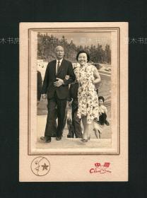 黄杰将军夫妇照片 原版老照片,黄埔军校第一期,陆军上将,湖南乡贤影像文献
