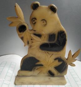 熊猫塑料小摆件