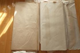 日本6-70年代手漉画仙纸和纸浅茶色老宣纸2刀69*138cm160张N526