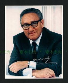 美国国务卿/诺贝尔和平奖得主 Henry Kissinger亨利·基辛格签名照片