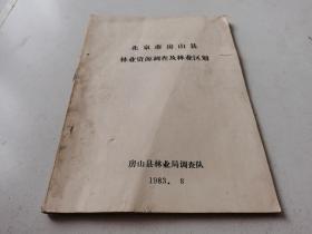 北京市房山县林业资源调查及林业区别