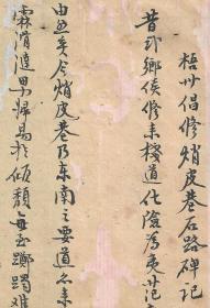清朝信札--------------字体像字帖<<..-----(清朝梧州修石路碑信札)------>>纸一张。清朝旧名人原底稿。品如图·