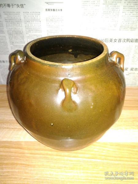 文革时期四系釉罐(严肃、活泼、团结、紧张)