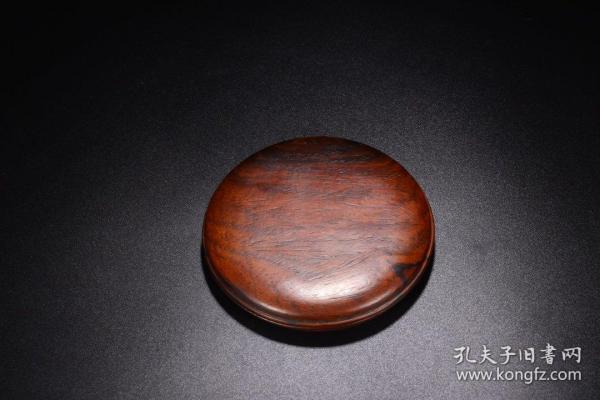 清:黄花梨素面印泥盒