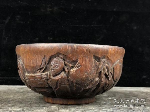 木雕人物故事碗