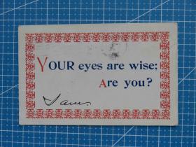 美神之洲---百年美国欧洲贴邮票实寄明信片-收藏集邮-复古手账-外国邮政彩色明信片