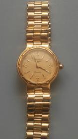浪琴镀金女士小腕表