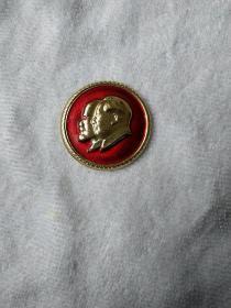 文革时期毛主席和列宁双人像章
