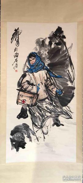 黄胄    纯手绘          国画         (卖家包邮)工艺品