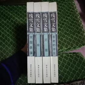 正版残雪代表作品---一版一印《残雪文集》全4册----苍老的浮云、痕、开凿、突围表演---整体9品如图