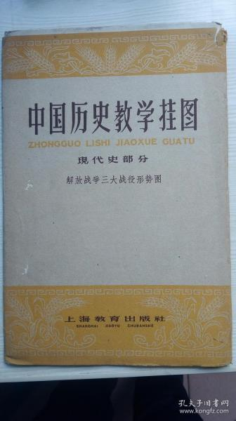 1961年,中国历史教学挂图,现代史部分,解放战争三大战役形势图。。。