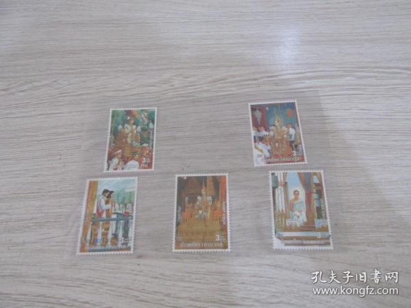 外国五枚邮票、 看好下单   3号册