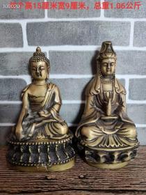 大明宣德年制纯铜如来佛、观音菩萨佛像铜像,重量尺寸如图