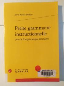 Petite grammaire instructionnelle pour le français langue érangère