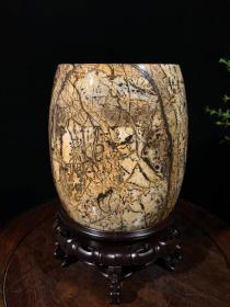 广西草花石花瓶1