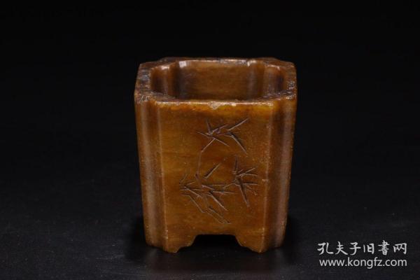旧藏:寿山石笔筒