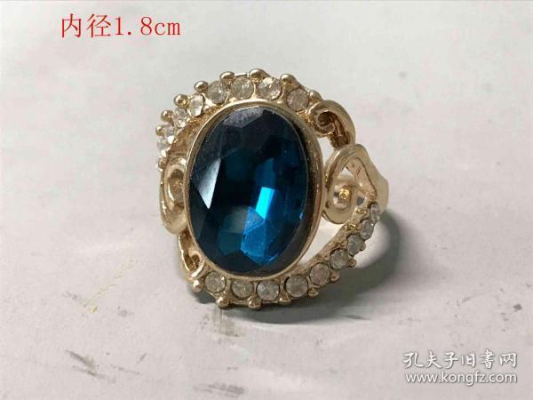 清代天然蓝宝石戒指6