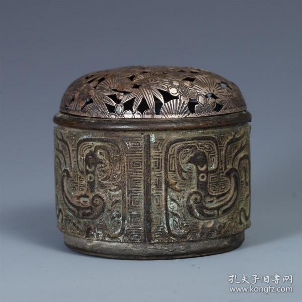 回流:铜鸟兽纹银盖炉