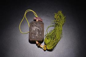 旧藏 沉香雕刻人物挂件