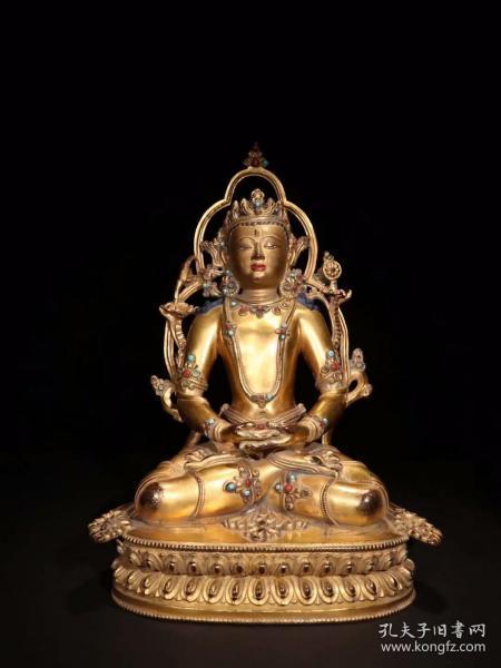 清代 铜鎏金菩萨造像一尊