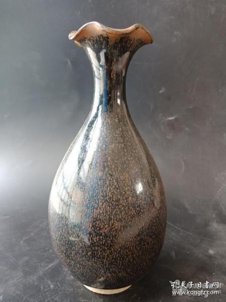 乡下收的老黑釉瓷瓶