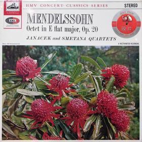EMI—HMV拉链版TAS上榜黑胶LP   SXLP 20071  立体声门德尔松弦乐八重奏雅纳切克四重奏和斯美塔那四重奏合作
